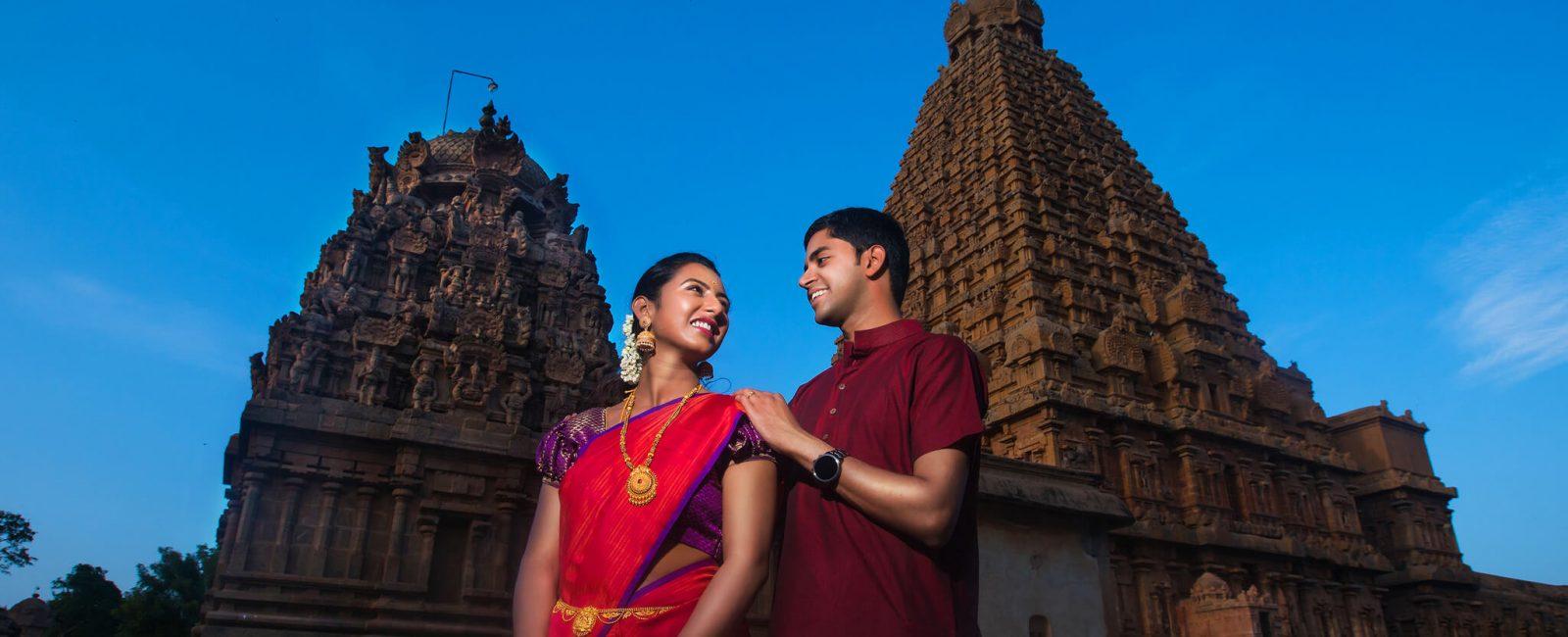 Gautam & Prathiba   Tanjore Big Temple