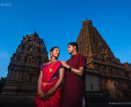 Tanjore Big Temple Wedding Photography | Gautam & Prathiba